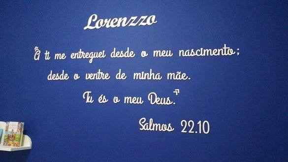 Kit Frase Salmos 22.10 Personalizada + Nome do Bebê