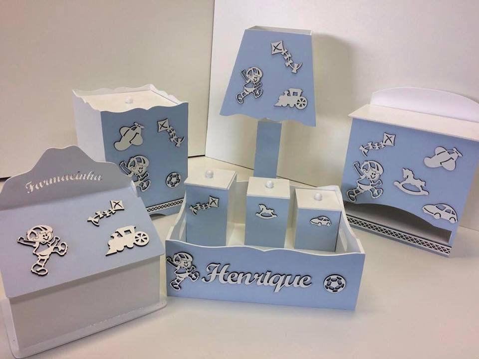 Kit Higiene 8 Peças Menino Brinquedos Personalizado