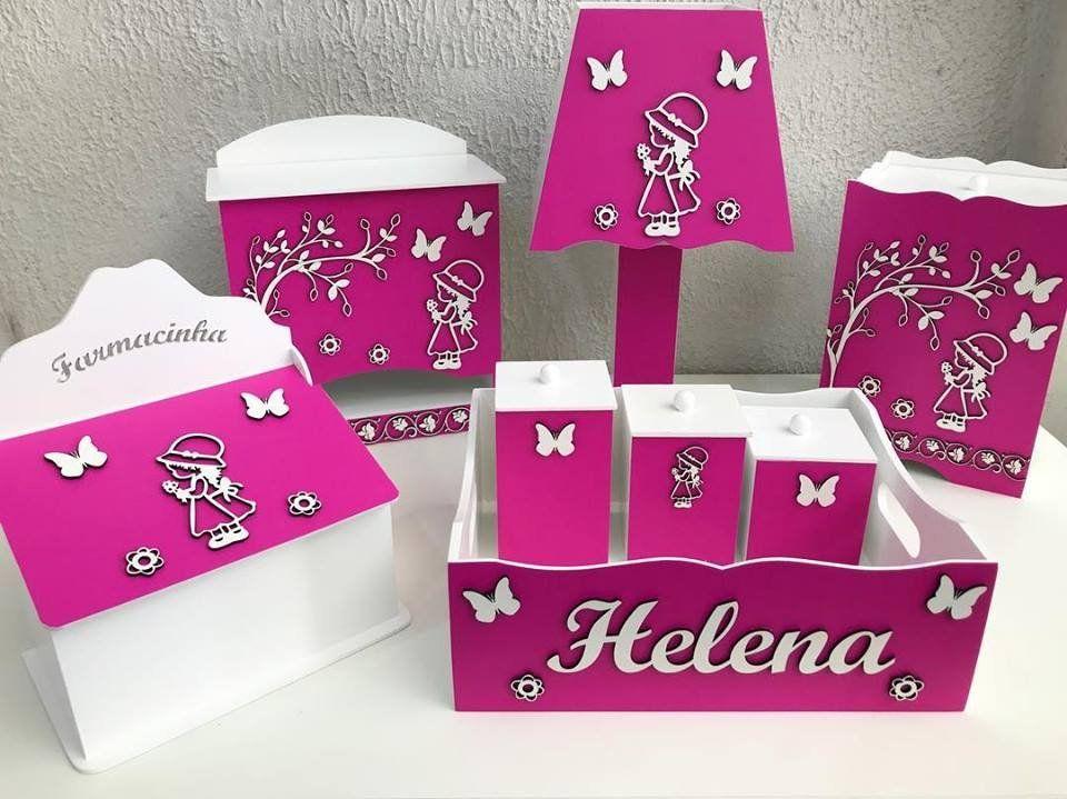 Kit Higiene 8 Peças Personalizado modelo Camponesa