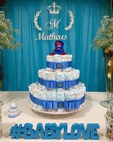 Kit MDF Coroa Inicial + Nome MDF BRANCO Decoração Chá de Bebê