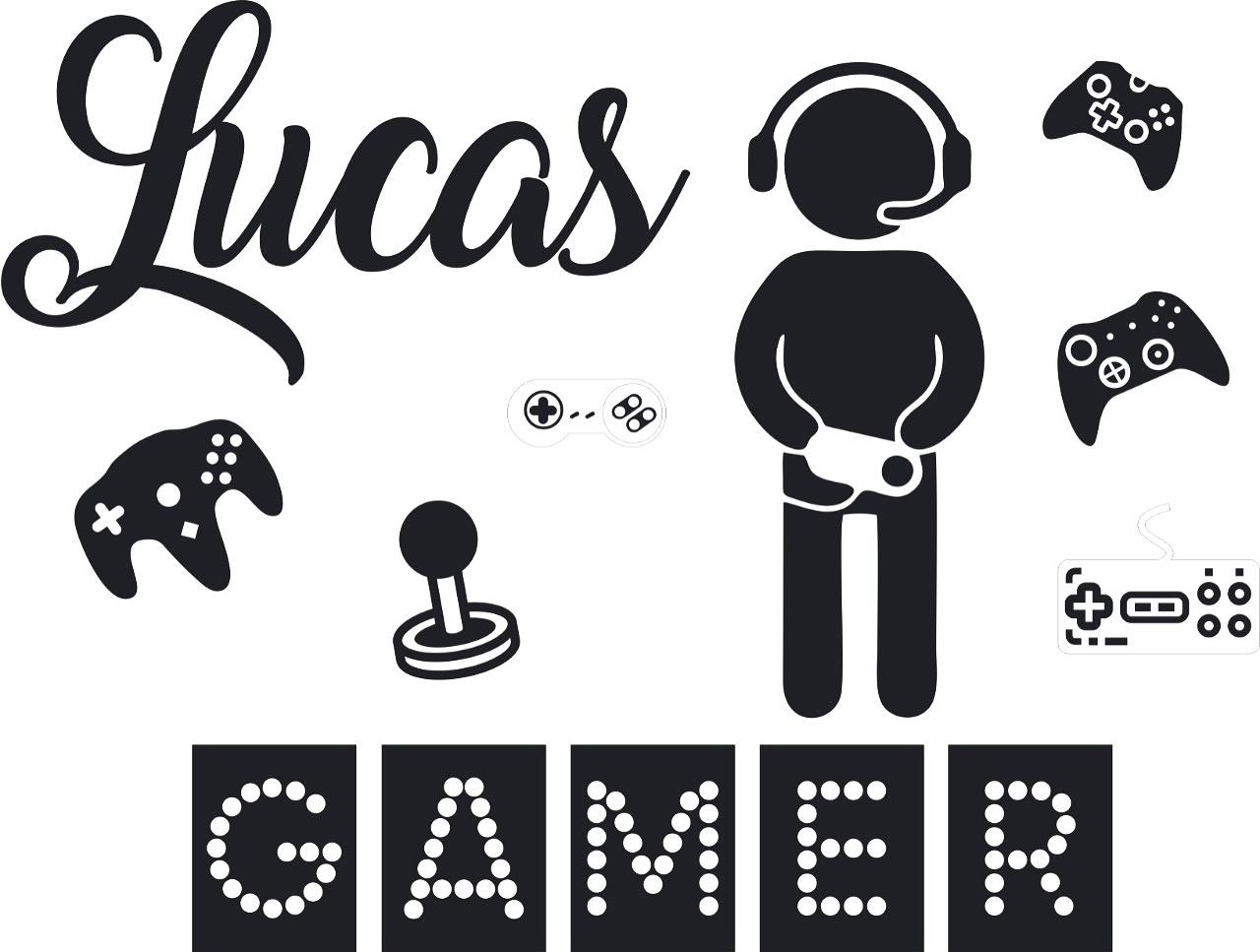 Kit Painel de Parede 13 peças Gamer Personalizado