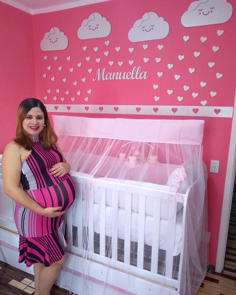 Kit Painel de Parede 48 peças Completo Nuvens Chuva de Amor Personalizado Decoração Quarto do Bebê