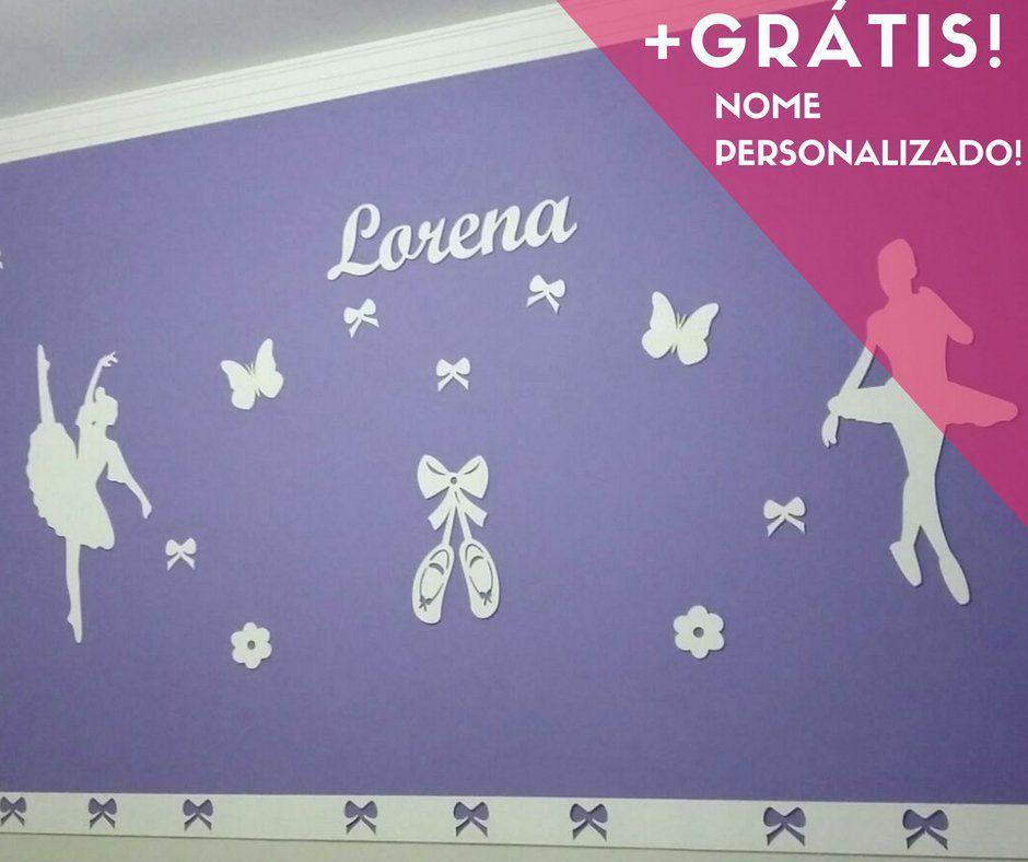 Kit Painel de Parede Bailarinas Personalizado MDF BRANCO
