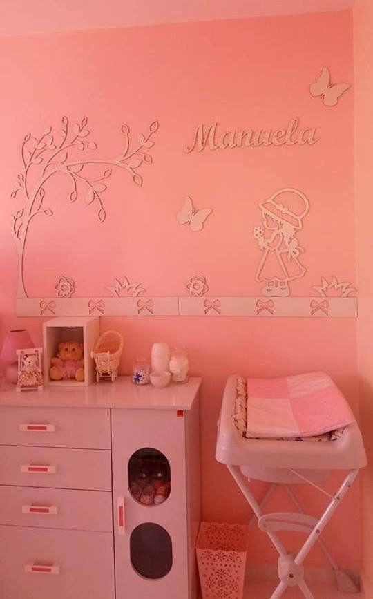 Kit Painel de Parede MDF Completo Camponesa Personalizado Decoração Quarto do Bebê