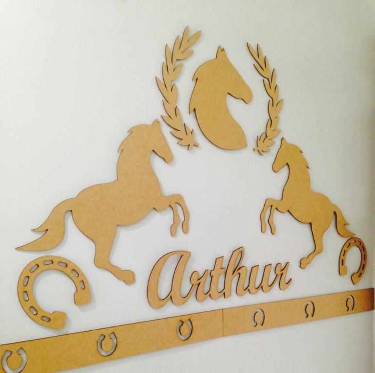 Kit Painel de Parede Cavalos Country MDF CRU