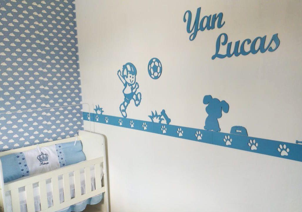 Kit Painel de Parede Completo 12 Peças Brinquedos Cachorrinho Personalizado  Decoração Quarto do Bebê