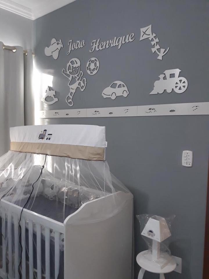 Kit Painel de Parede Completo 12 Peças Brinquedos Personalizado Decoração Quarto do Bebê