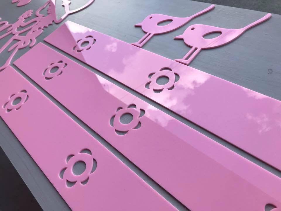 Kit Painel de Parede Completo com Faixas Camponesa Personalizado ACRÍLICO