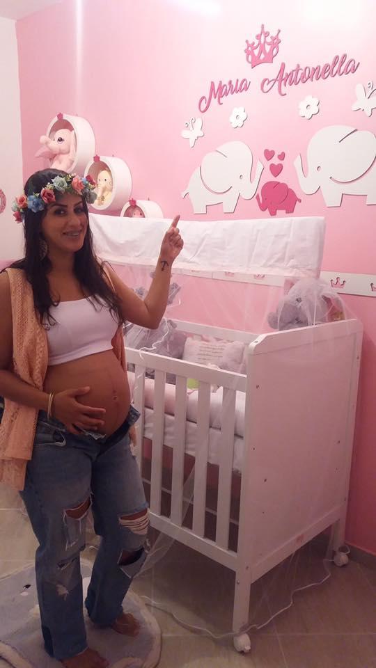 Kit Painel de Parede Completo 16 peças Elefantinhos Menina Personalizado Decoração Quarto do Bebê