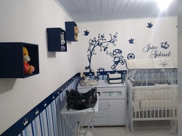 Kit Painel de Parede Completo Menino Futebol 17 peças Personalizado Decoração Quarto do Bebê