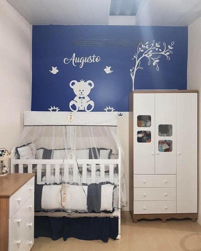 Kit Painel de Parede Completo 11 peças NOVO Urso Príncipe com árvore Personalizado Decoração Quarto do Bebê