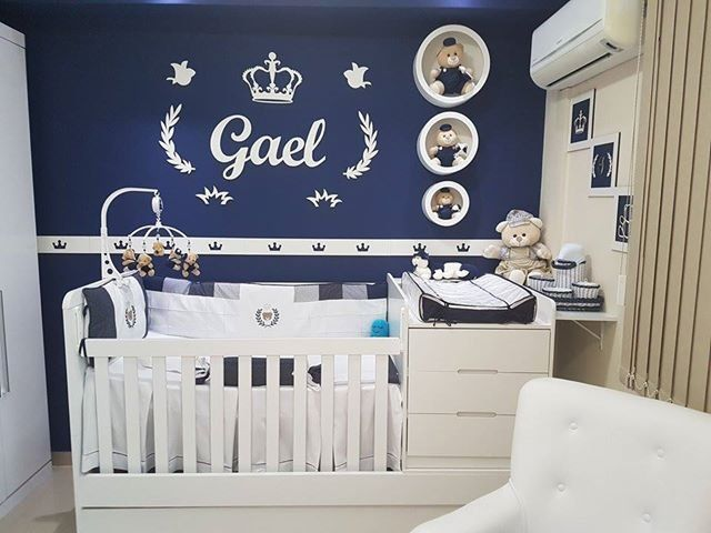 Kit Painel de Parede Completo Príncipe Personalizado Decoração Bebê