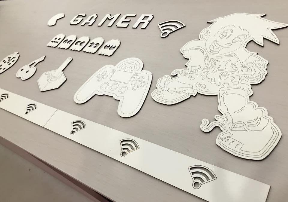 Kit Painel de Parede Completo 14 peças Gamer Personalizado