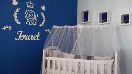 Kit Painel de Parede Leão Príncipe Rei Personalizado MDF BRANCO