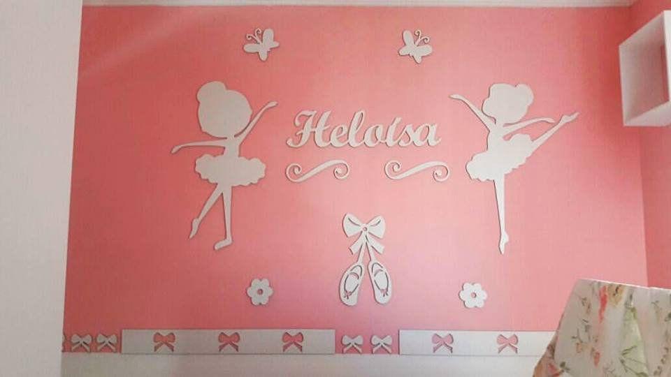 Kit Painel de Parede Completo Meninas Bailarinas Personalizado