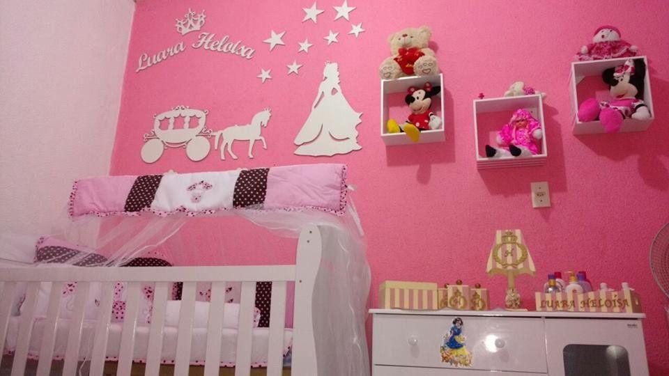 Kit Painel de Parede Completo Princesa Carruagem Estrelas Personalizado