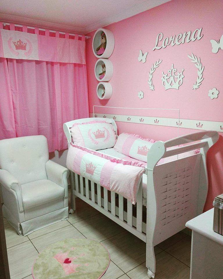 Kit Painel de Parede Completo 12 peças Princesa Decoração Quarto do Bebê