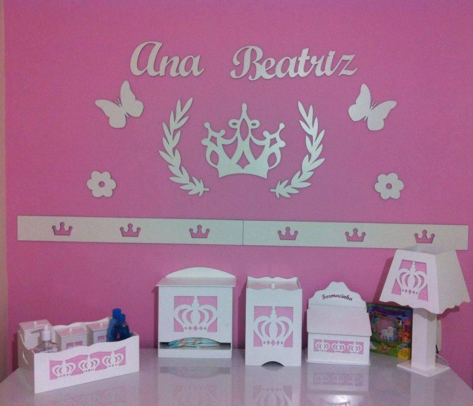Kit Painel de Parede Princesa MDF BRANCO