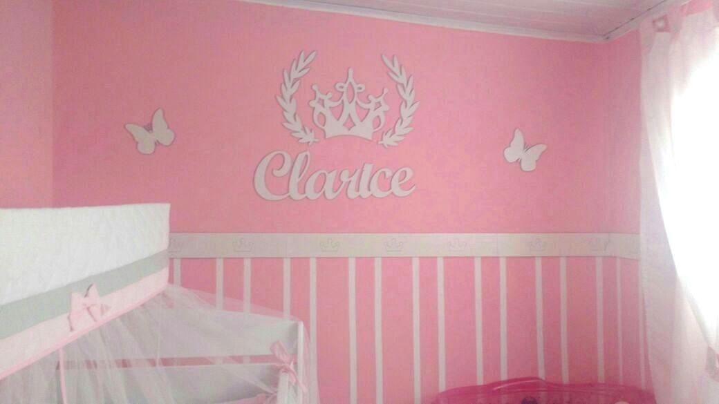 Kit Painel de Parede Completo Princesa Decoração Quarto do Bebê