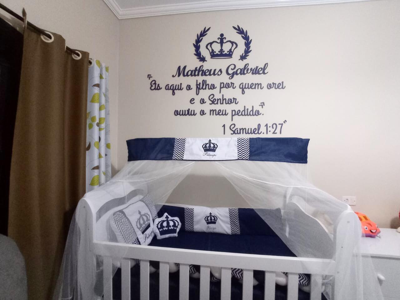 Kit Painel de Parede Príncipe com Frase 5 itens Príncipe Personalizado Decoração Bebê
