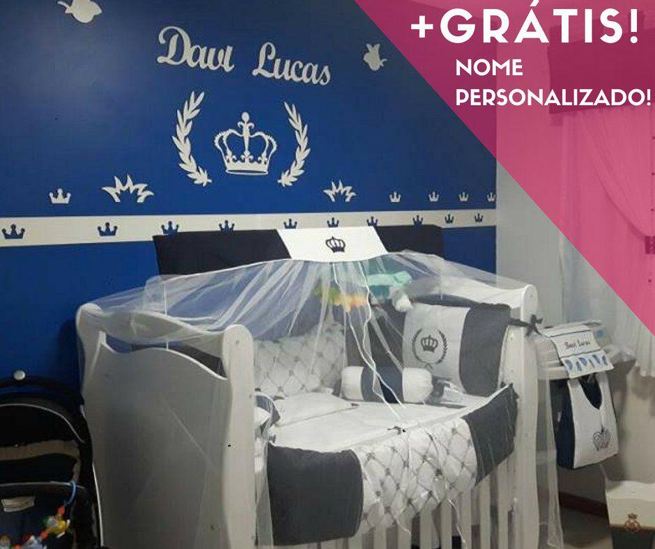 Kit Painel de Parede Príncipe Personalizado MDF BRANCO