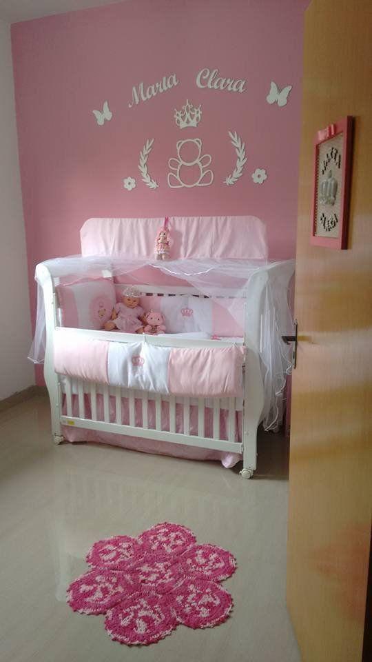 Kit Painel de Parede Completo Ursa Princesa Personalizado 2 Decoração Quarto do Bebê