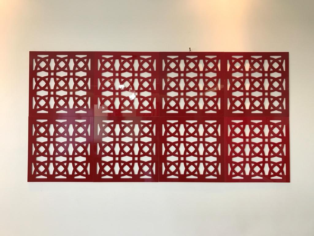 Painel Vazado Modulado 40cm x 40cm em MDF ou Acrílico para Colar Revestir Parede (1 peça)