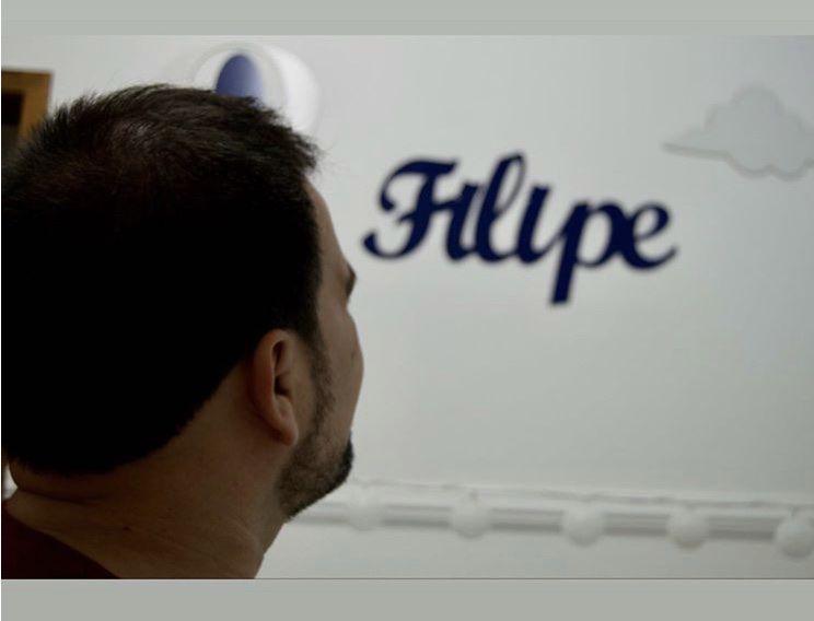 """Kit Personalizado Balão Nuvens e Frase """"Eu Prefiro o Paraíso"""" São Filipe Néri"""