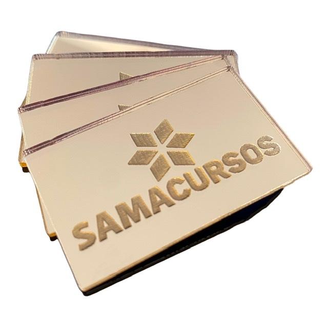 Kit Plaquinhas Apliques 5cm em acrílico dourado