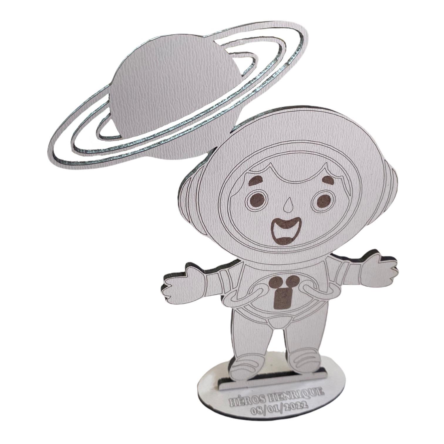 Lembrancinhas de Mesa 10cm Astronauta - MDF BRANCO