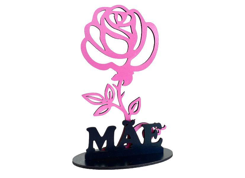 Lembrancinhas de Mesa 15cm Flor Dia das Mães - MDF Laminado 15cm