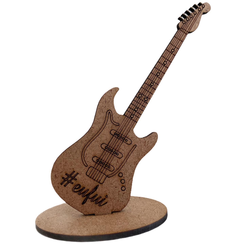 Lembrancinhas de Mesa Guitarra 10cm - MDF CRU