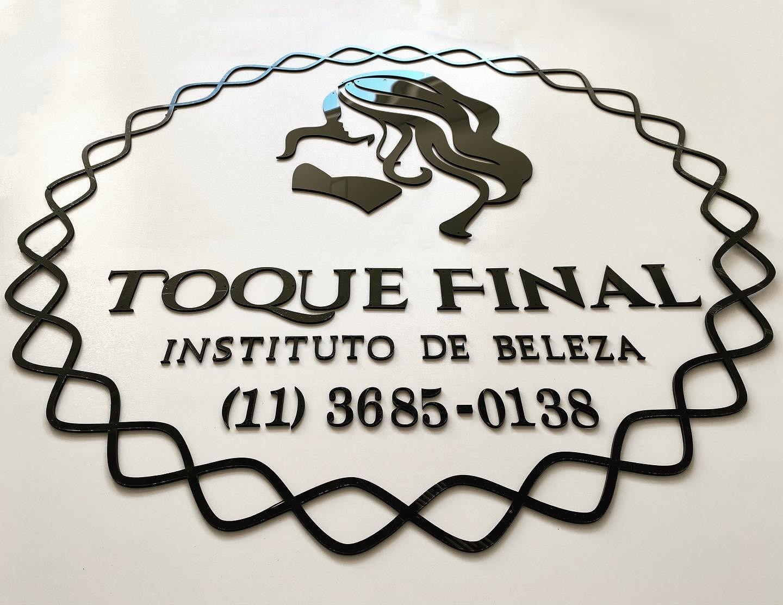 Logotipo personalizado 1,50 largura em Acrílico (uma cor)