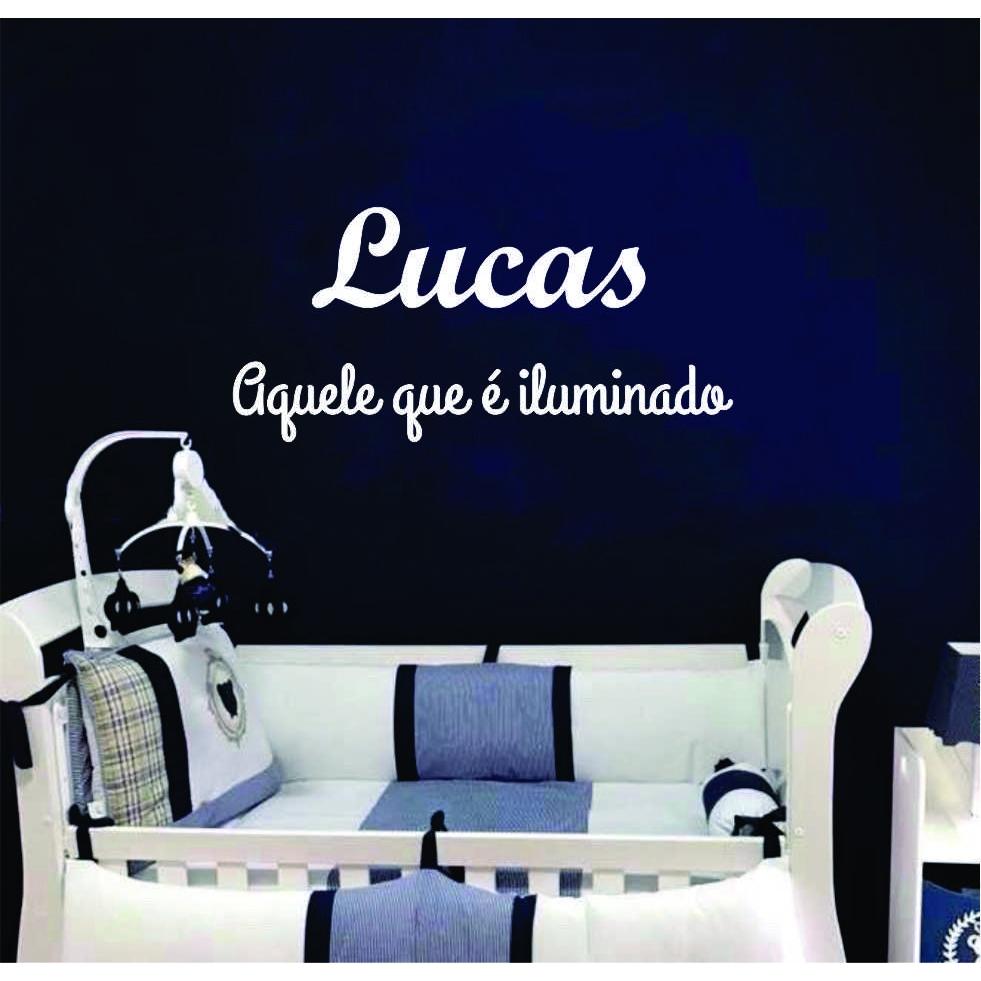 LUCAS - Nome + Frase decorativa em MDF 90cm Significado do Nome