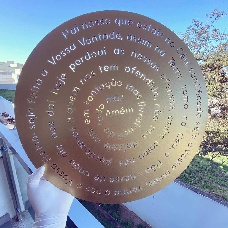 Mandala decorativa oração do Pai Nosso 50cm Decoração Ambiente