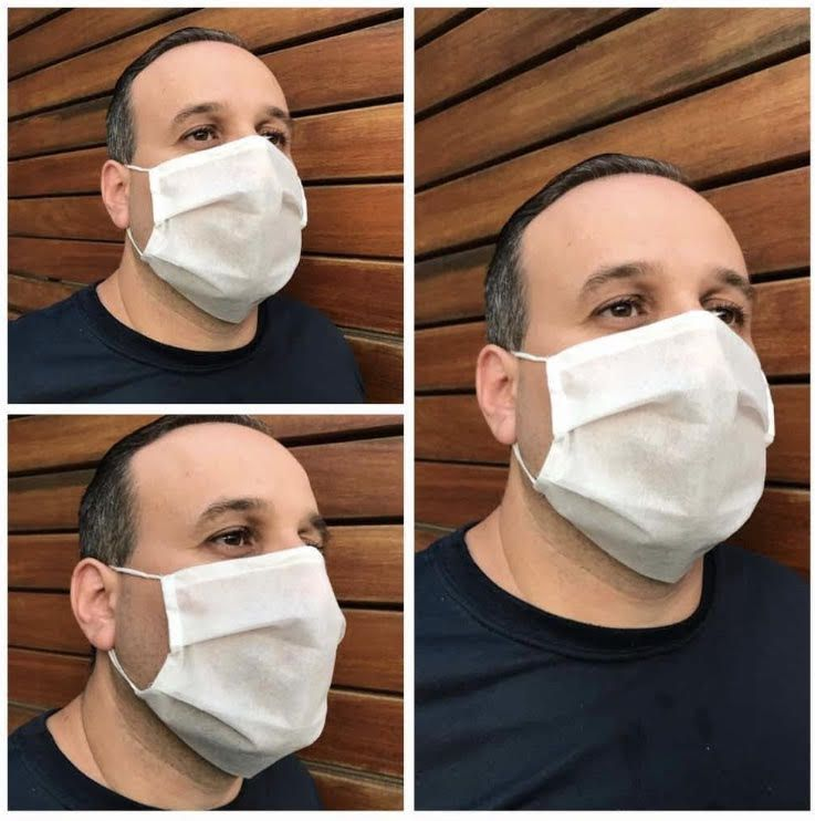Máscara Tnt Tripla Proteção - Descartável Atacado - Com ajuste nasal