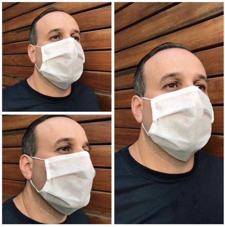 Máscara de Proteção Tnt Duplo Descartável Atacado - Com ajuste nasal