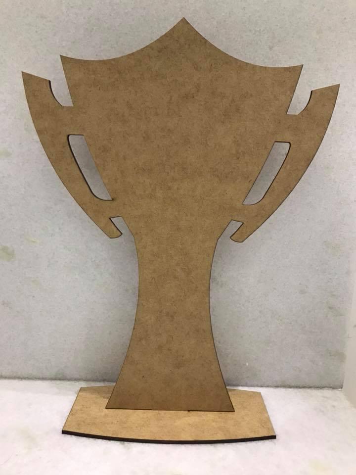 Mini Troféu Desmontável 10cm Brinde Personalizado MDF CRU