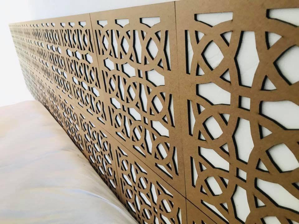 Módulos decorativos MDF Vazado 30cm x 30cm Decoração de Ambientes (1 peça)