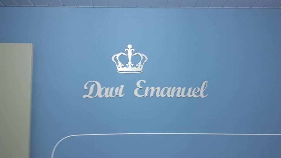Nome Personalizado (Duplo) 80cm + Coroa 25cm MDF BRANCO