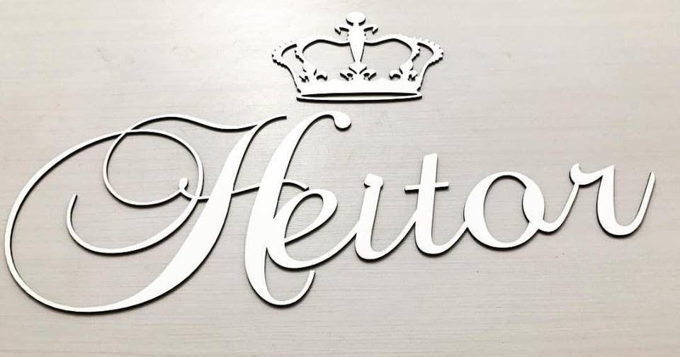 Nome Personalizado (Provençal) 60cm + Coroa 20cm