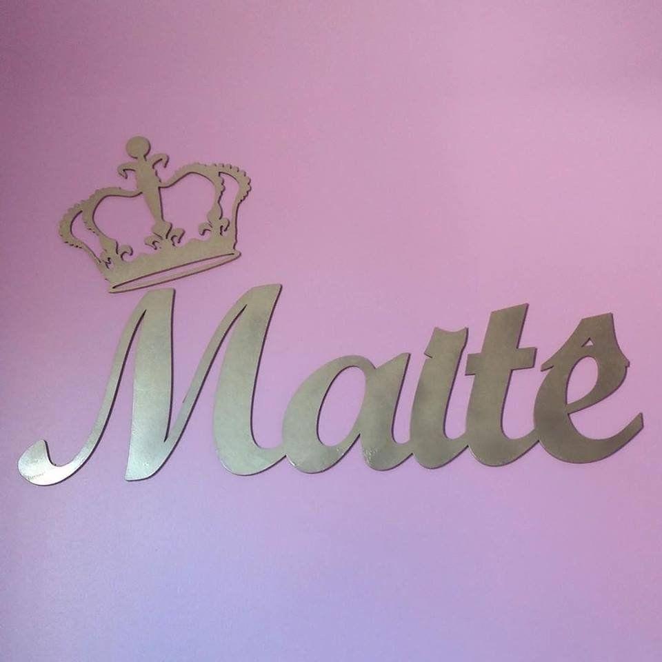 Nome Personalizado (Simples) 60cm + Coroa 20cm MDF DOURADO