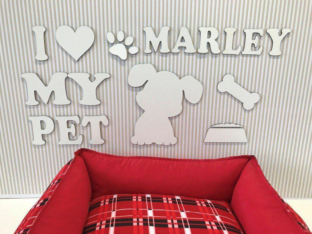 Painel Cachorrinho I Love My Pet Personalizado
