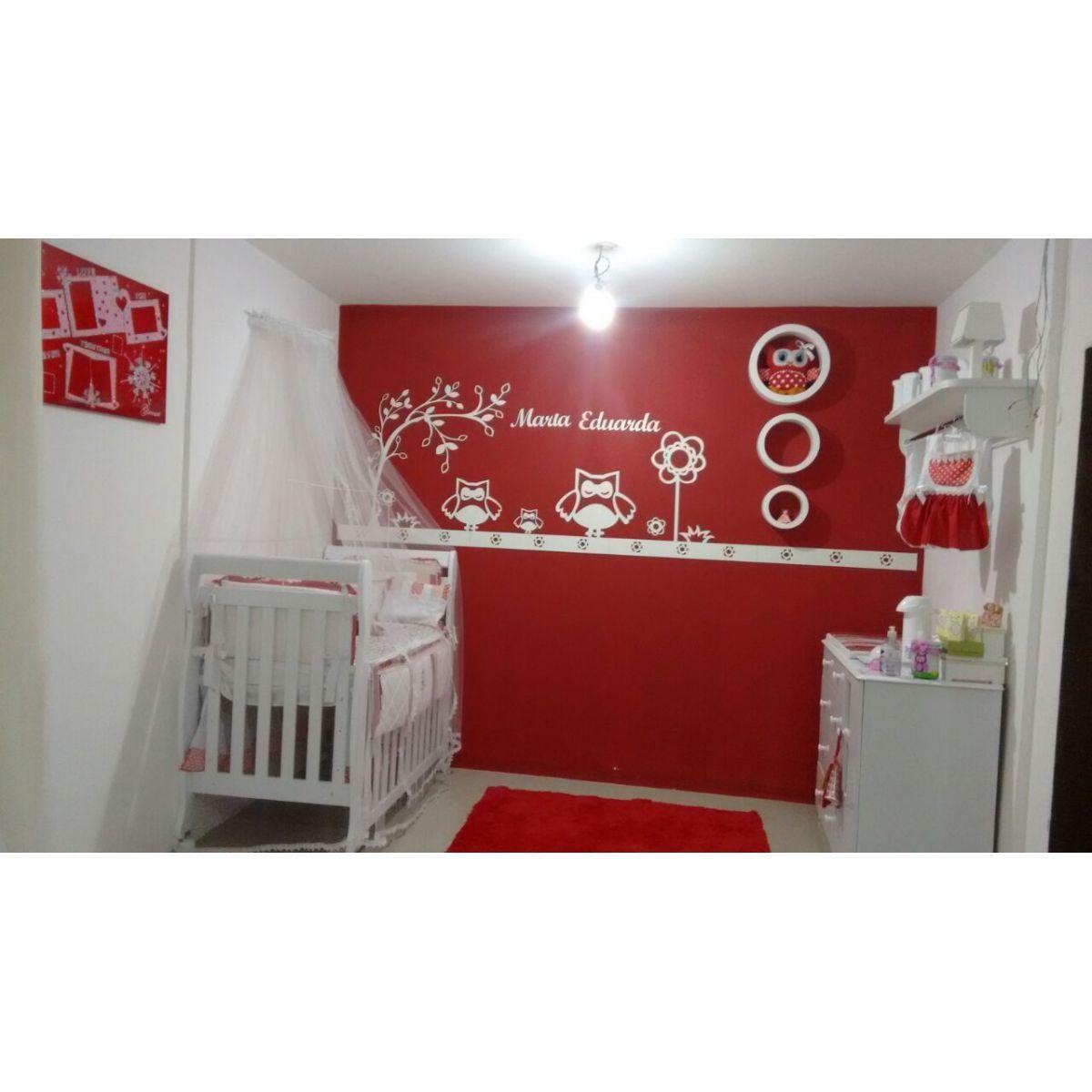 Painel de Parede Completo Corujinha Feliz Personalizado MDF Decoração Quarto do Bebê