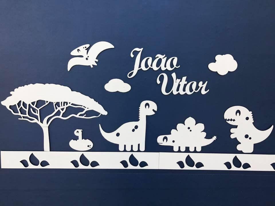 Painel de Parede Completo DINOSSAUROS Baby Completo Personalizado