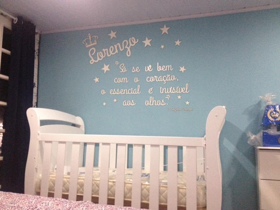 Painel de Parede Completo O Pequeno Príncipe MDF BRANCO Decoração Quarto do Bebê