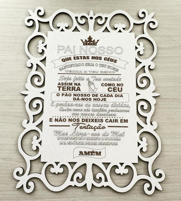 Placa decorativa 40cm Oração do Pai Nosso