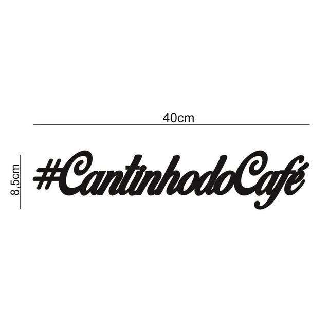 """Placa decorativa letreiro """"#cantinhodocafé"""" 40cm Decoração Ambiente"""