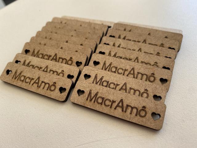 Plaquinha personalizada artesanato MDF CRU 5cm