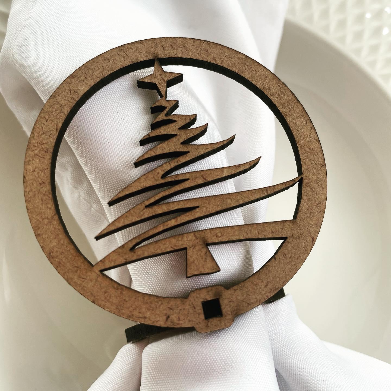 Porta Guardanapo Árvore de Natal Mesa Posta
